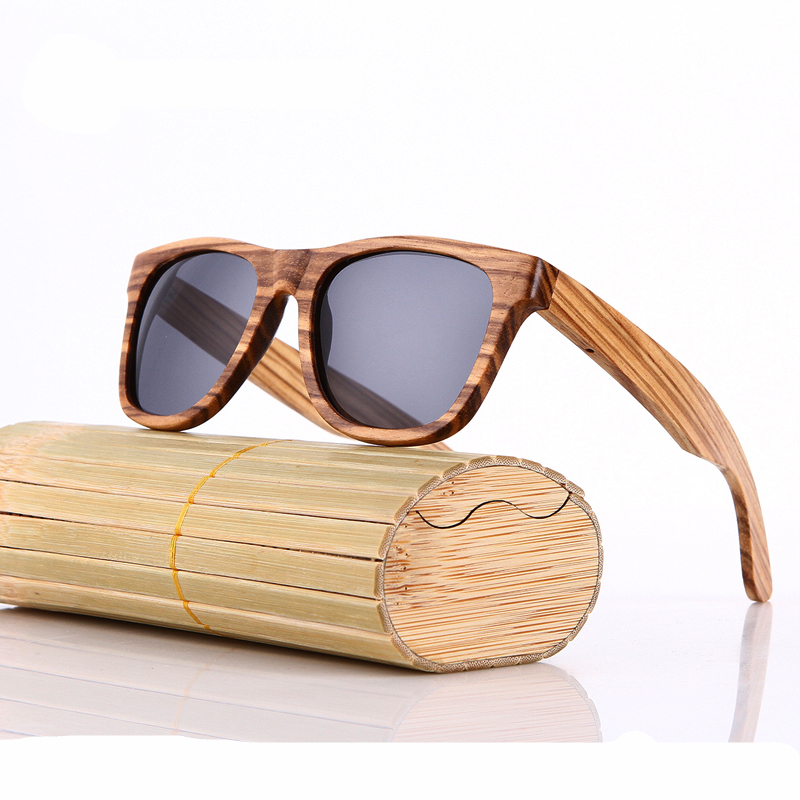 7bd2c445b2 Click to enlarge. HomeFashionMens Real Zebra Wood Polarized Handmade Bamboo  Mens Sunglass